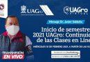 Rector de la UAGro llama a cuidar la salud en inicio de semestre.