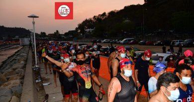 """Turistas de """"acero"""" reactivan Acapulco Diamante en el """"Ironman""""."""